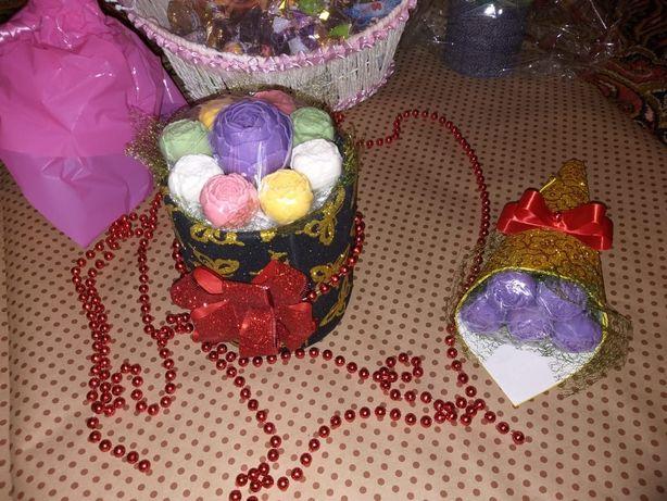 Шоколадные цветы, конфеты