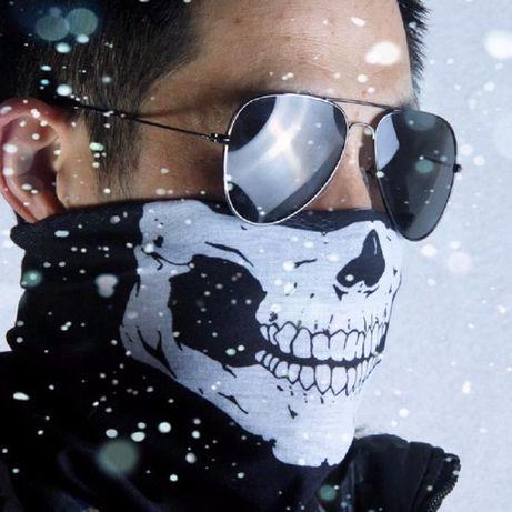 Мото маска за лице череп