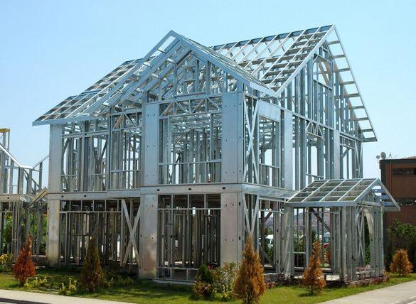 Лека Стоманена Конструкция за Сглобяема Къща