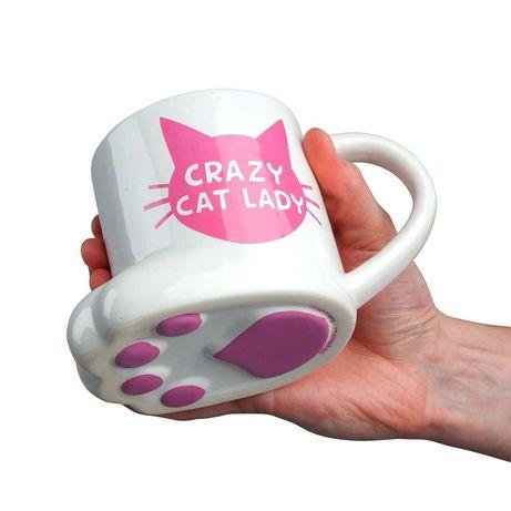 Чаша за кафе - Котешка лапа Crazy Cat Lady