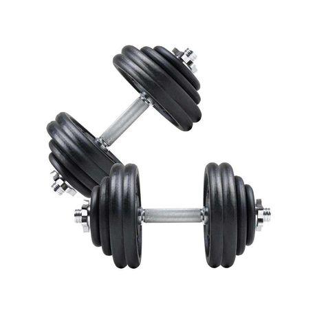 Дъмбели Чифт - 2 х 30 кг , Разглобяеми Метални Гири ø30 мм ( 60 кг )