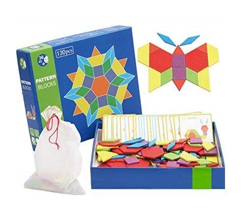 Tangram 125 sau 130 piese Jucarii Montessori