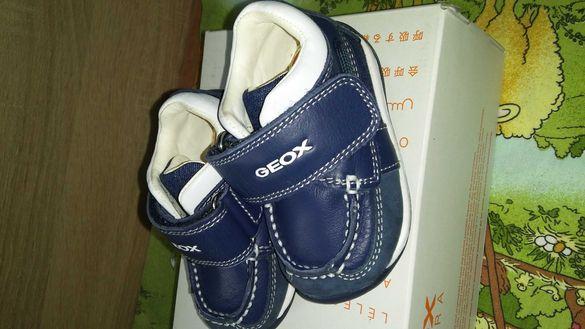 Бебешки обувки от естествена кожа GEOX RESPIRA-18 номер
