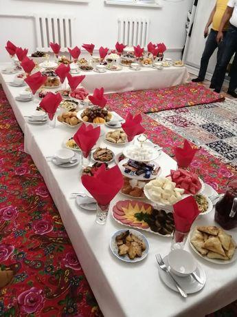 Аренда Жер стол и посуда и круглые столы