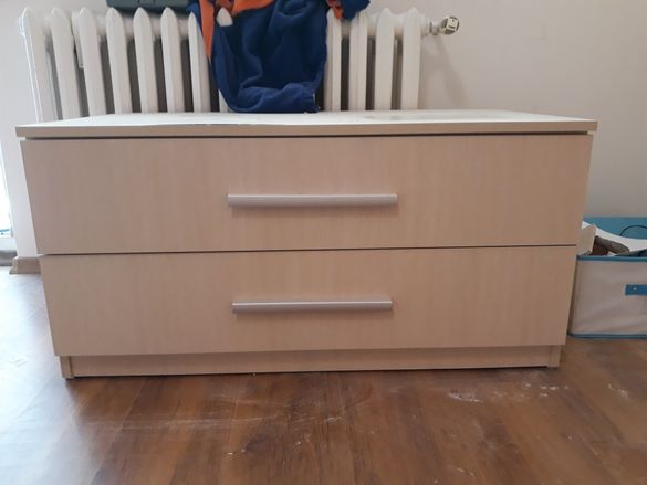 Функционален шкаф с две чекмеджета, като нов 55 /петдесет и пет/ лева