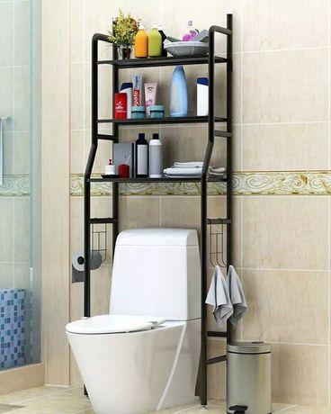 Органайзер полка для ванной комнаты.   Цветы: черный, б