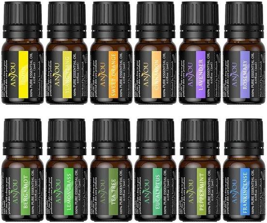 Set de 12/14-5ML uleiuri 100% naturale pentru difuzor de Arome