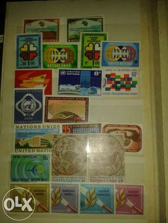 Колекция пощенски марки издание на ООН