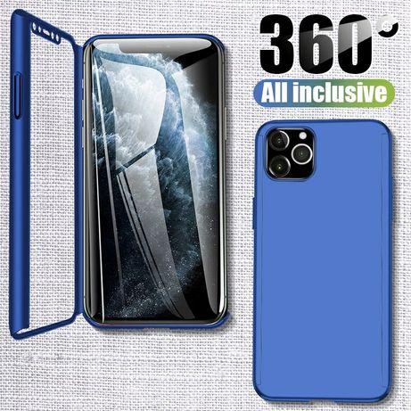 Кейс 360° Градуса Мат за Apple iPhone 12 / 12 Pro + стъклен протектор