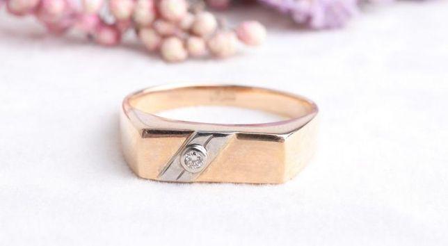 Печатка с бриллиантом, золото 585 Россия, вес 5.30 г. «Ломбард Белый»