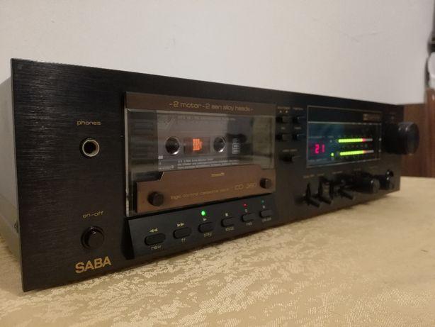 Stereo Cassette Tape Deck SABA CD360 (2 motoare) - ca Nou/Rar/Vintage/