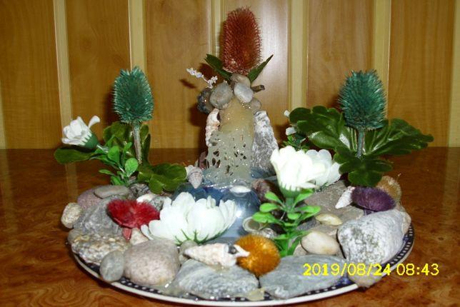 decoratiuni executate din sfoara,piatra,flori pt interior camere