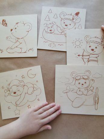 Доски-картинки для выжигания, рисования