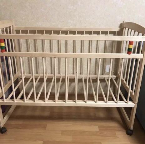 Детская кроватка + матрас ортопедический