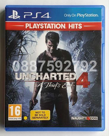 Диск с играта Uncharted 4 A Thief's End PS4 Playstation 4 Плейстейшън