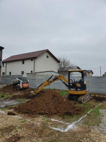 Inchiriez miniexcavator , bobcat , buldoexcavator utilaje constructii