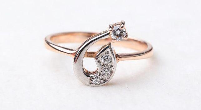 Кольцо с бриллиантами, золото 585 (14K), вес 2.45 г. «Ломбард Белый»