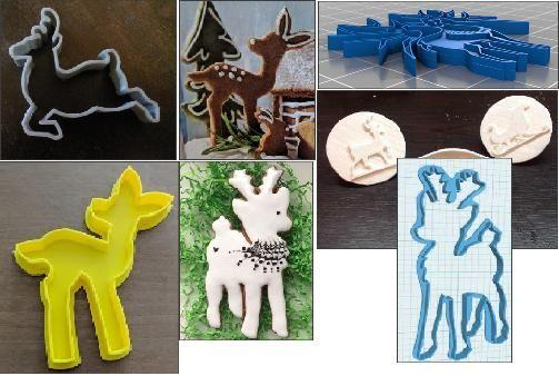 Caprioare decupatoare , ornament - Bambi