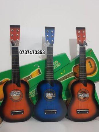 Chitara clasica din lemn,6 corzi metalice,86/98/67/55cm,husa transport