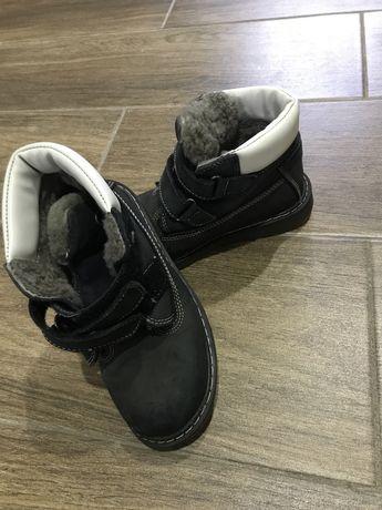 Детская обувь зимняя кожа, внутри цигейка