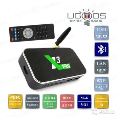 UGOOS X3 PRO. 4/32гб. ТВ Бокс.