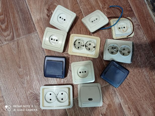 Продам розетки выключатели