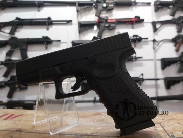 Upgradat 4J Pistol Airsoft Full Metal Glock 19 + CO2 si bile cadou