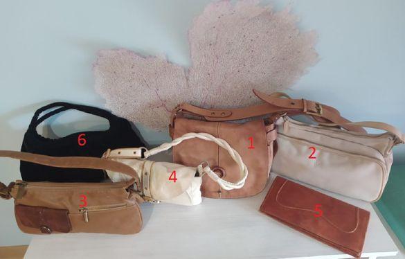 Малки дамски чанти + крос-боди чанта, маркови, италиански, естествена
