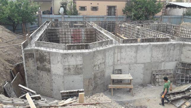 Заливка бетон монолит фундамент монолитчики,разработка котлованов