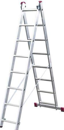 Новые в упаковке алюм лестницы KRAUZE Германия 16 ступеней,2 яруса