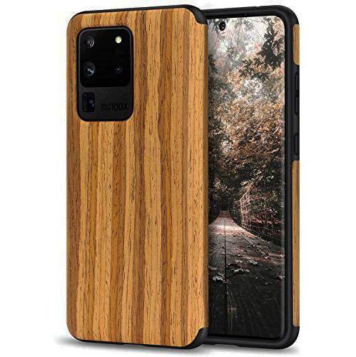 Дървен кейс с каучук за Samsung Galaxy S20, S20 Plus, S20 Ultra