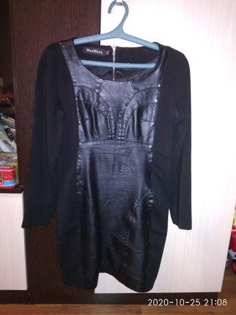 Платье кожанное для девушек