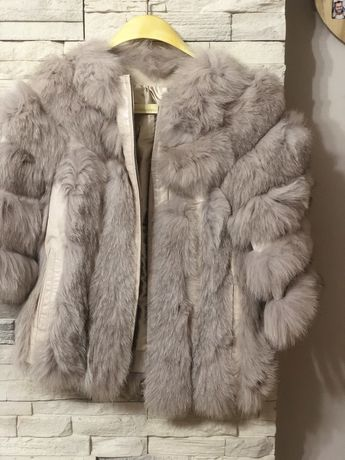 Дамско палто естествен косъм Намалено