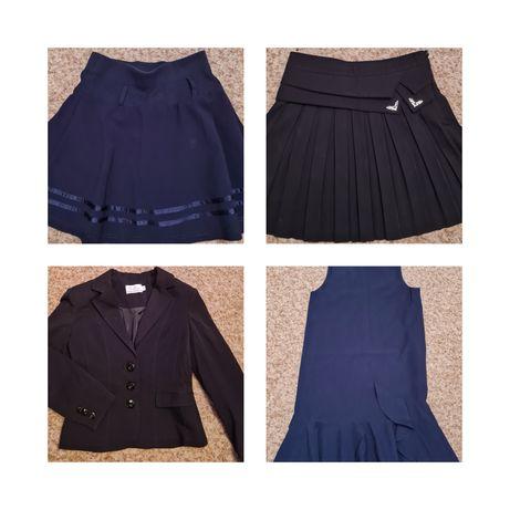 Школьная форма для девочки - 130-140 см ,туфли 37