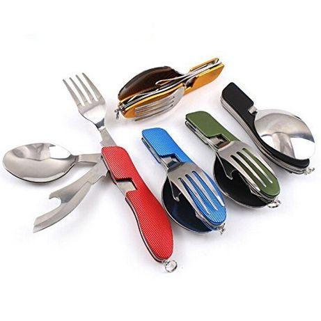 Комбиниран прибор за хранене 3в1 - лъжица, нож, отварачка и вилица