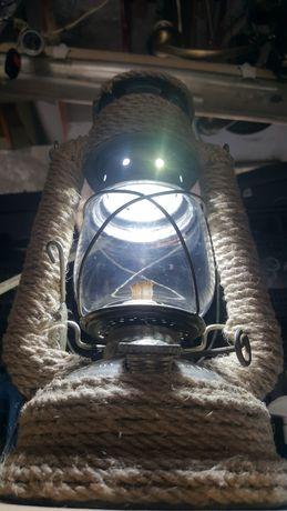 Бутиков Газен фенер с електричество и декупаж