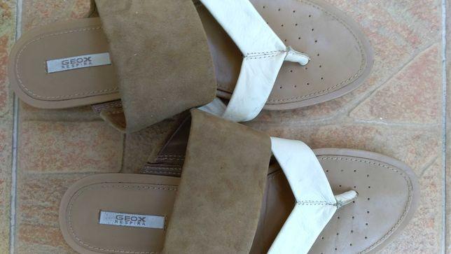 Sandale GEOX Respira, noi, originale, din piele, mar. 36