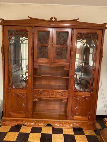 Biblioteca lux, lemn masiv, lucrat manual