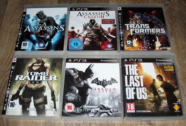 Lot 6 jocuri Adventure PS3: The Last of Us, Batman, Assassins Creed...