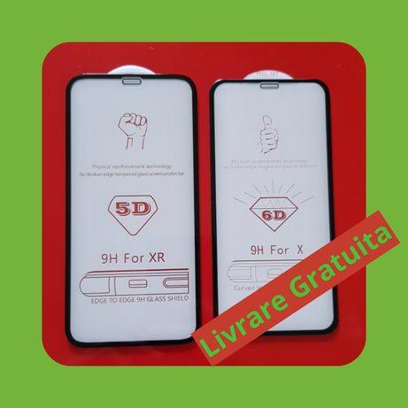 FOLIE STICLA full size iPhone 6,7,8, Plus, X, Xr, X Max, XI, XI Pro 11