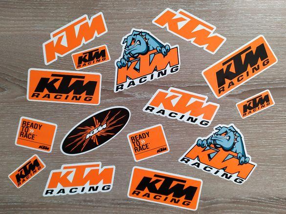 Стикери КТМ KTM емблеми лога - 15 бр. общо Sticker