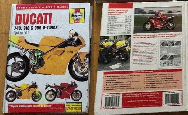Manual moto Haynes Ducati V-Twins; Triumph Triples & Fours, Daytona