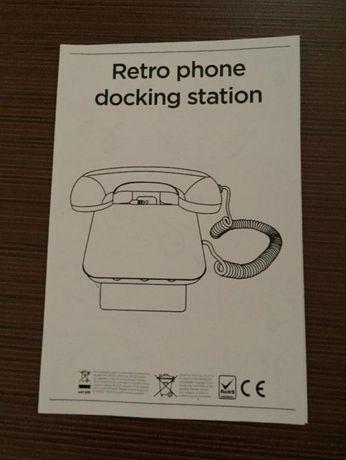 Retro phone docking station