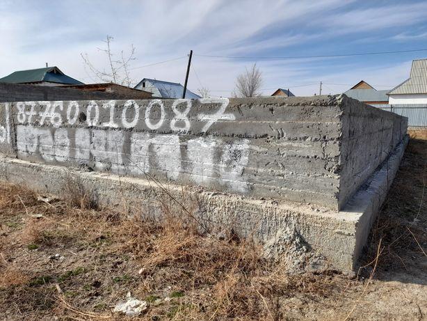 Фундамент куйылган участка