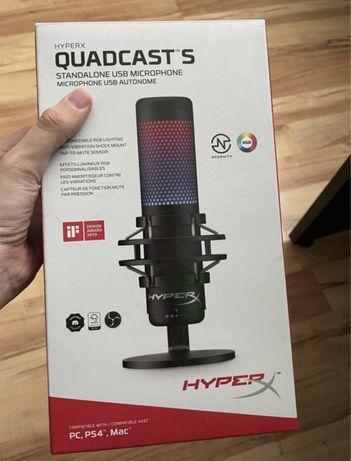 Микрофон HyperX QuadCast S с подсветкой rgb hyper x