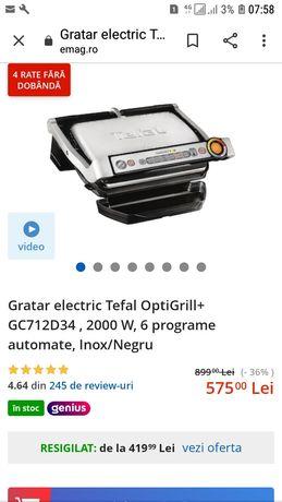 Gratar Electric Tefal Optigrill Plus Gc 712D34 200w 6 programe