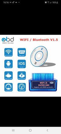 Автосканер  OBD 2, 1.5  Wi Fi ,  ELM 327