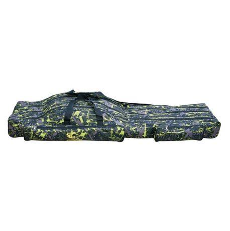 Geanta husa lansete B47, 150 cm, 4 compartimente, camuflaj