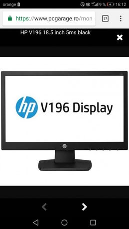 Monitor LED HP V196 18.5 inch 5ms black