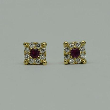 Cercei de aur galben cu rubine si diamante (cod 2971,3775,2849)